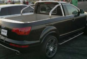 Audi Q7 Pickup Truck Rear View