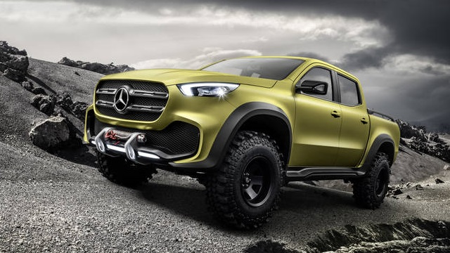 Mercedes Pickup Truck Front View
